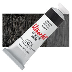 Utrecht Artists' Oil Paint - Ivory Black, 37 ml tube