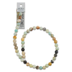 John Bead Semi-Precious Beads - Amazonite, 8 mm, 16'' Strand