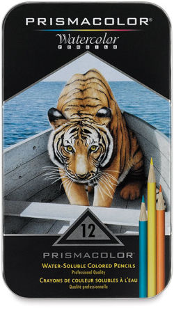 Prismacolor Watercolor Pencil Sets- Set of 12, Front Cover