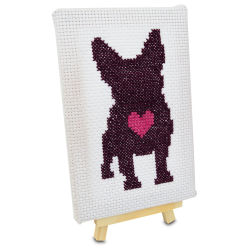 Cross Stitch Style Canvas and Easel Set
