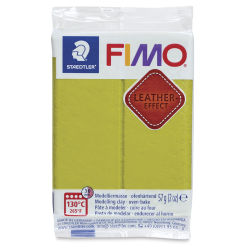 Staedtler Fimo Leather Effect Clay - Olive, 2 oz