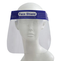 Kore Reusable Face Shield (Front, Shown on mannequin)