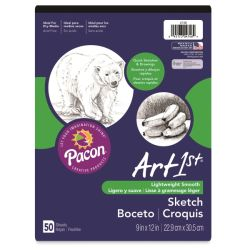 ART1st Sketch Pad - 9'' x 12'', 50 Sheets
