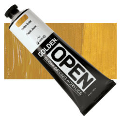 Golden Open Acrylics - Yellow Oxide, 5 oz Tube with Swatch