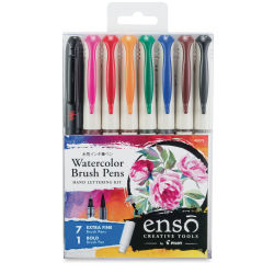 Pilot Enso Watercolor Brush Pen Hand Lettering Kit - Set of 8