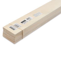 "Bud Nosen Basswood Sheets - 3/8"" x 3"" x 24"", 5 Sheets"