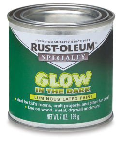 Rust-Oleum Glow-In-The-Dark Brush-On Paint - 7 oz Can