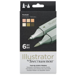 Spectrum Noir Illustrator Markers - Portrait Colors, Set of 6