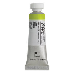 PWC Extra Fine Professional Watercolor - Leaf Green, 15 ml, Swatch with Tube