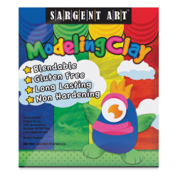 Sargent Art Non-Hardening Modeling Clays - Set of 4, 1 lb, Assorted Colors