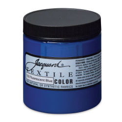 Jacquard Textile Color - Fluorescent Blue, 8 oz jar