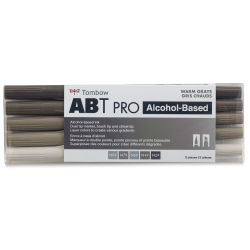 Tombow ABT Pro Alcohol Marker - Warm Gray Tones, Set of 5