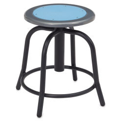 National Public Seating Designer Swivel Stool - Black Frame/Blueberry Seat