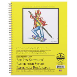 Bee Paper Pen Sketcher's Wirebound Pad - 11'' x 8-1/2'', Portrait, 50 Sheets