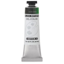 Blick Artists' Oil Color - Olive Green, 40 ml tube