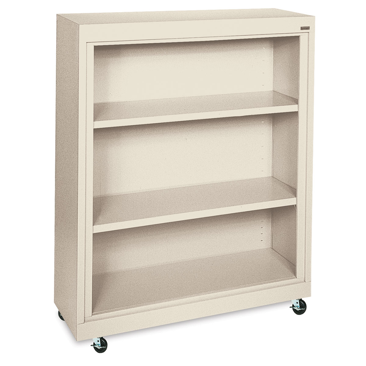 Sandusky Lee Mobile Bookcase - 36 x 48 x 18, Putty