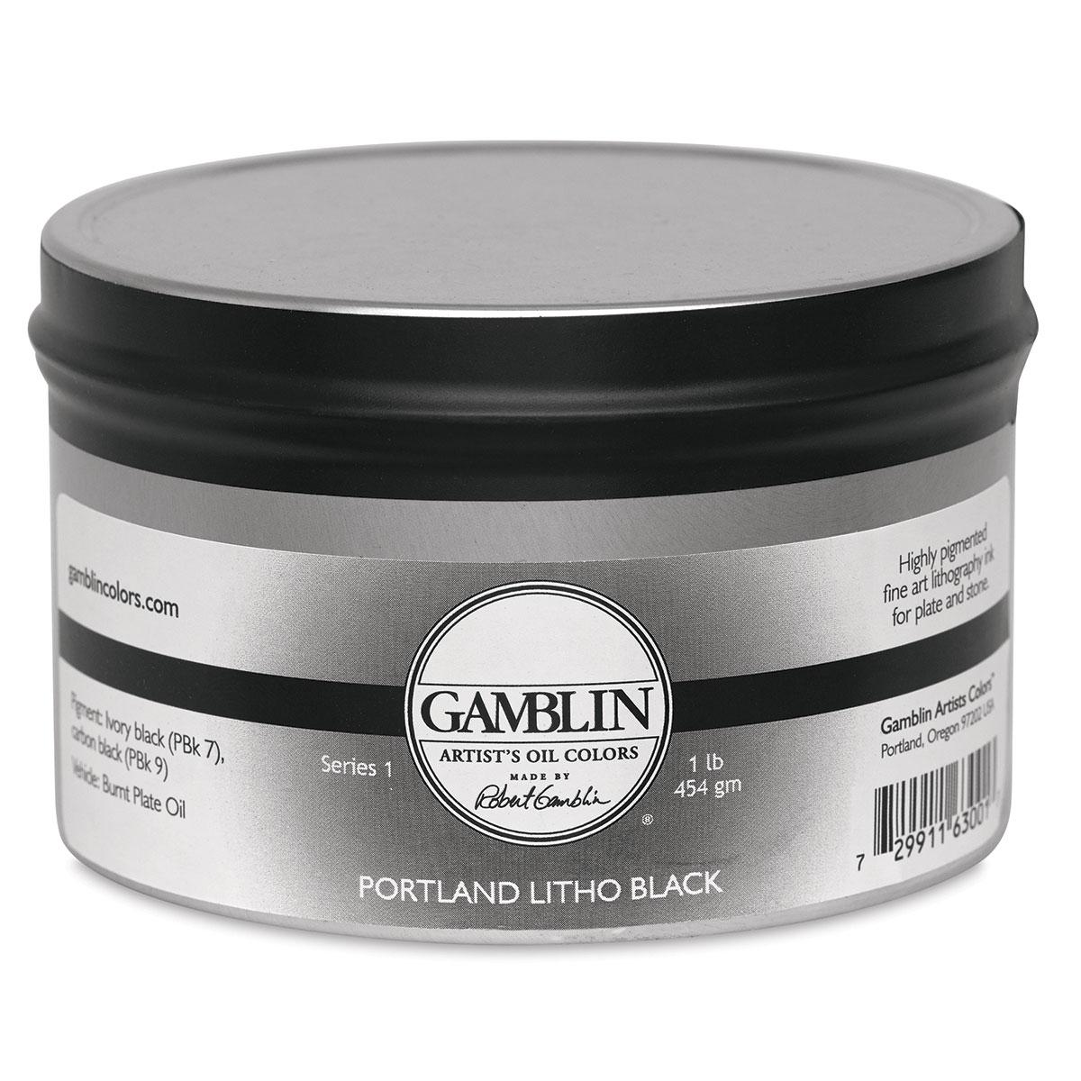 Gamblin Portland Black Litho Ink - 1 lb