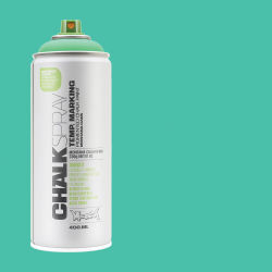 Montana Chalk Spray Paint - 400 ml, Turquoise (Spray can with swatch)