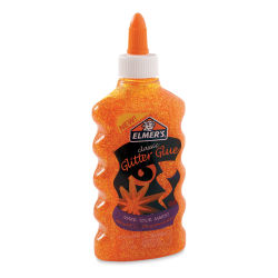 Elmer's Glitter Glue - Orange, 6 oz Bottle
