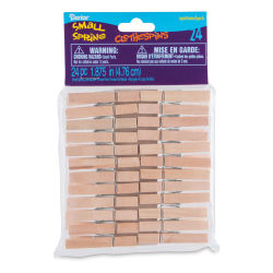 Darice Wooden Spring Clothespins - Small, Pkg of 24