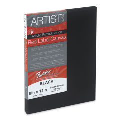 Fredrix Red Label 3/4'' Profile Black Canvas - 9'' x 12''