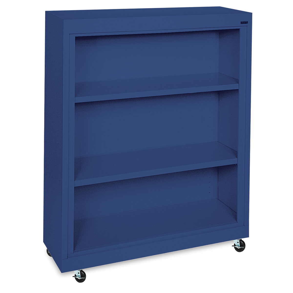 Sandusky Lee Mobile Bookcase - 36 x 48 x 18, Blue
