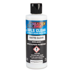 Createx Airbrush Clears - UVLS Top Coat, Matte, 4 oz, Bottle
