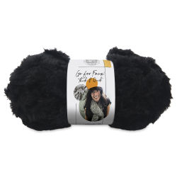 Lion Brand Go For Faux Thick And Quick Yarn - Black Panther, 24 yds