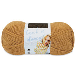 Lion Brand Touch of Alpaca Yarn - Goldenrod