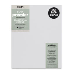 "Blick Premier Cotton Canvas - Back-Stapled, 7/8"" Traditional Profile, 11"" x 14"""