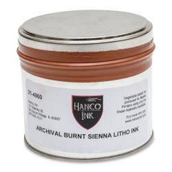 Hanco Standard Palette Litho Ink - 1 lb, Burnt Sienna