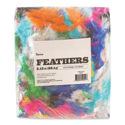 Darice Value Pack Feathers - Brights, 60 g