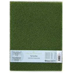 "Schulcz Scale Model Plant Foam - Floral Green, Pkg of 2, Medium, 4 mm, 11-3/4"" x 15-3/4"" (front of package)"
