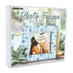 "DIY Designs Photo Frame Mosaic Kit - Blue, 6"" x 6"""