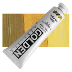 Golden Heavy Body Artist Acrylics - Nickel Azo Yellow, 2 oz Tube