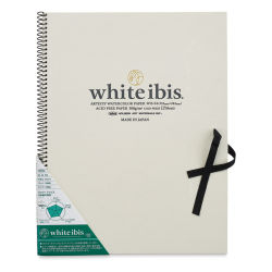 "Holbein White Ibis Watercolor Book - 13-1/16"" x 9-1/2"", Spiral Bound"