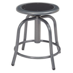 National Public Seating Designer Swivel Stool - Grey Frame/Black Seat