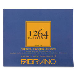 "Fabriano 1264 Sketch Pad, 14"" x 17"", Glue Bound, 100 Sheets, Landscape"