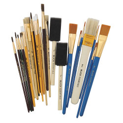Blick Essentials Value Brush Set - Craft Brushes, Set of 25