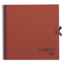 "Holbein Multimedia Book - 10"" x 10"", Rust (front cover)"