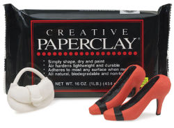 Creative Paperclay, 16 oz, purse and high heels made out of the paperclay