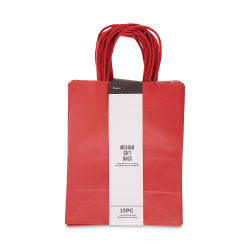 Gift Bags - Red, Pkg of 13, Medium, 10'' x 8'' x 4-3/4''