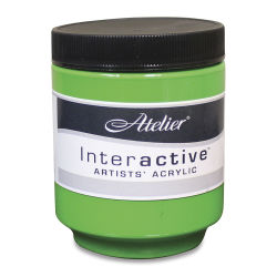 Chroma Atelier Interactive Artists' Acrylics - Permanent Green Light, 250 ml jar