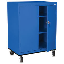 Mobile General Storage Cabinet - 36'' x 24'' x 48'', Blue