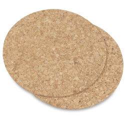 Hygloss Cork Coasters - Pkg of 24, Round, 4'' diameter