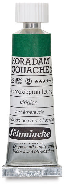Schmincke Horadam Artist Gouache - Chromium Oxide Green Brilliant, 15 ml tube