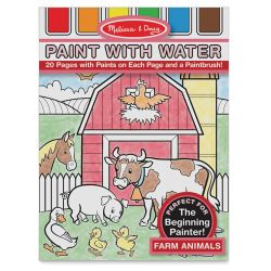 Melissa & Doug Paint with Water Activity Book - Farm Animals