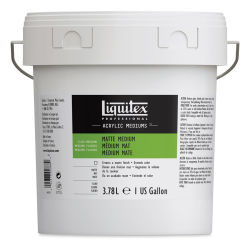 Liquitex Acrylic Mediums - Matte, 128 oz. Front of bucket.