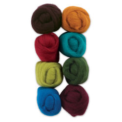 Wistyria Editions 100% Wool Roving - Bouquet, Pkg of 8