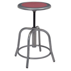 National Public Seating Designer Swivel Stool - Grey Frame/Burgundy Seat